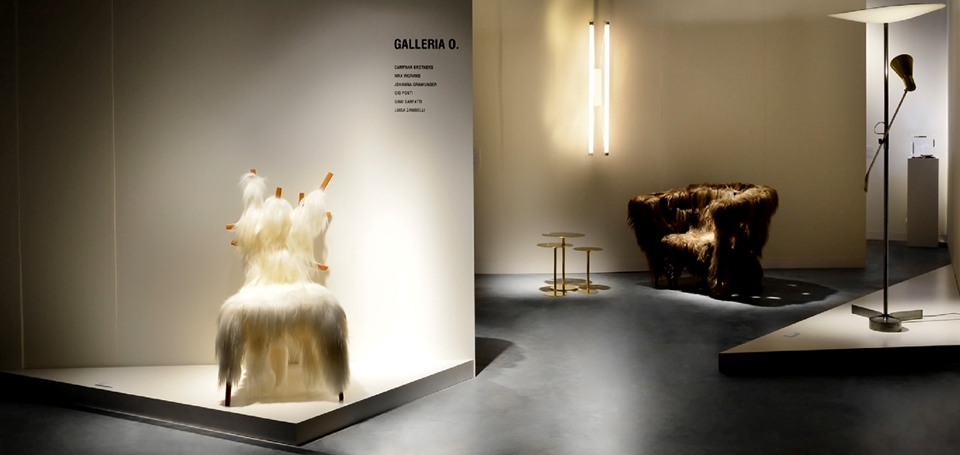 The set up designed by Bevilacqua Architects for Galleria O' at Design Miami/Basel 2013.