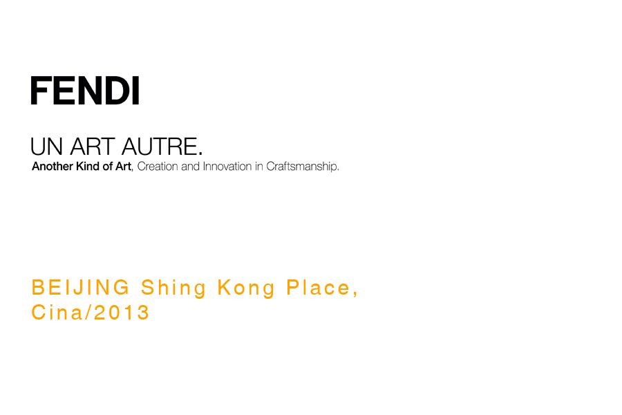 """The exhibition path designed by Bevilacqua Architects for Fendi """"Un Art Autre"""""""