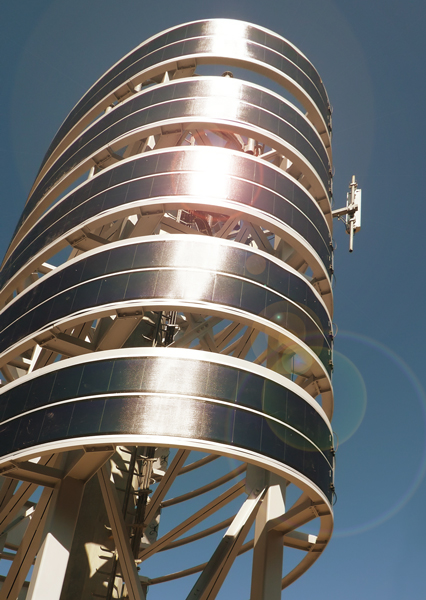 Telecom Tower designed by Bevilacqua Architects in l'Aquila.
