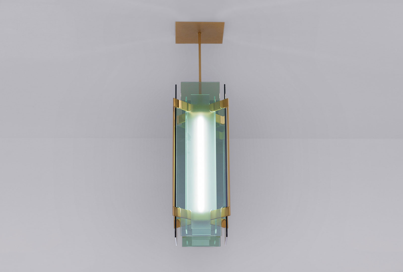 Livio Lamp designed by Marco Bevilacqua reinterpreting today some distinctive signs of Pietro Chiesa and Max Ingrand for Fontana Arte, using the most advanced technologies currently available