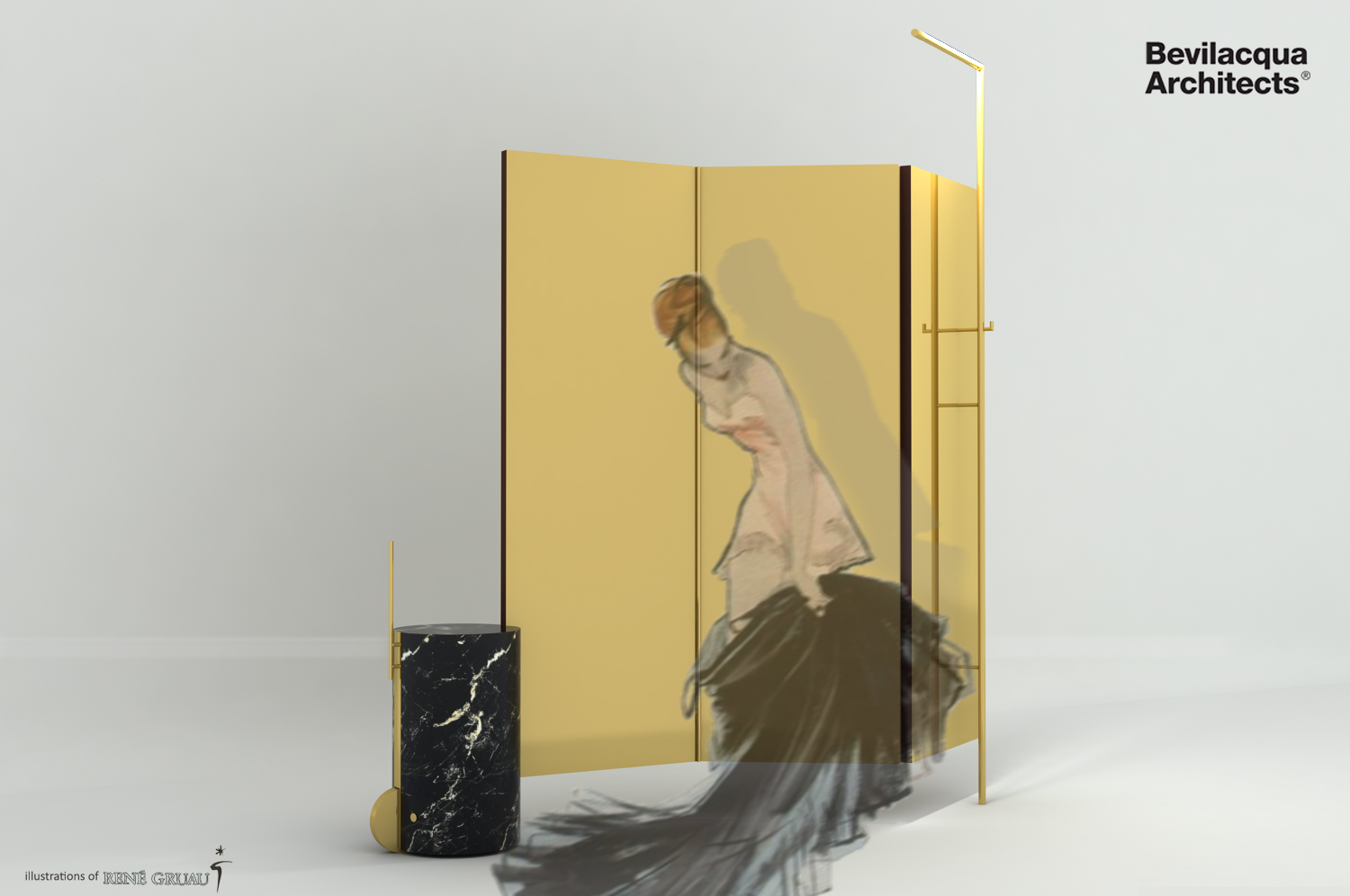 Bevilacqua Architects - Brass Space Divider
