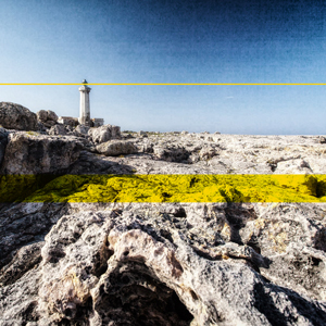 The Lighthouse on the cliff of Murro di Porco in Syracuse, Sicily